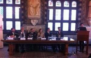 I relatori del convegno a Palazzo San Giorgio - clicca per ingrandire