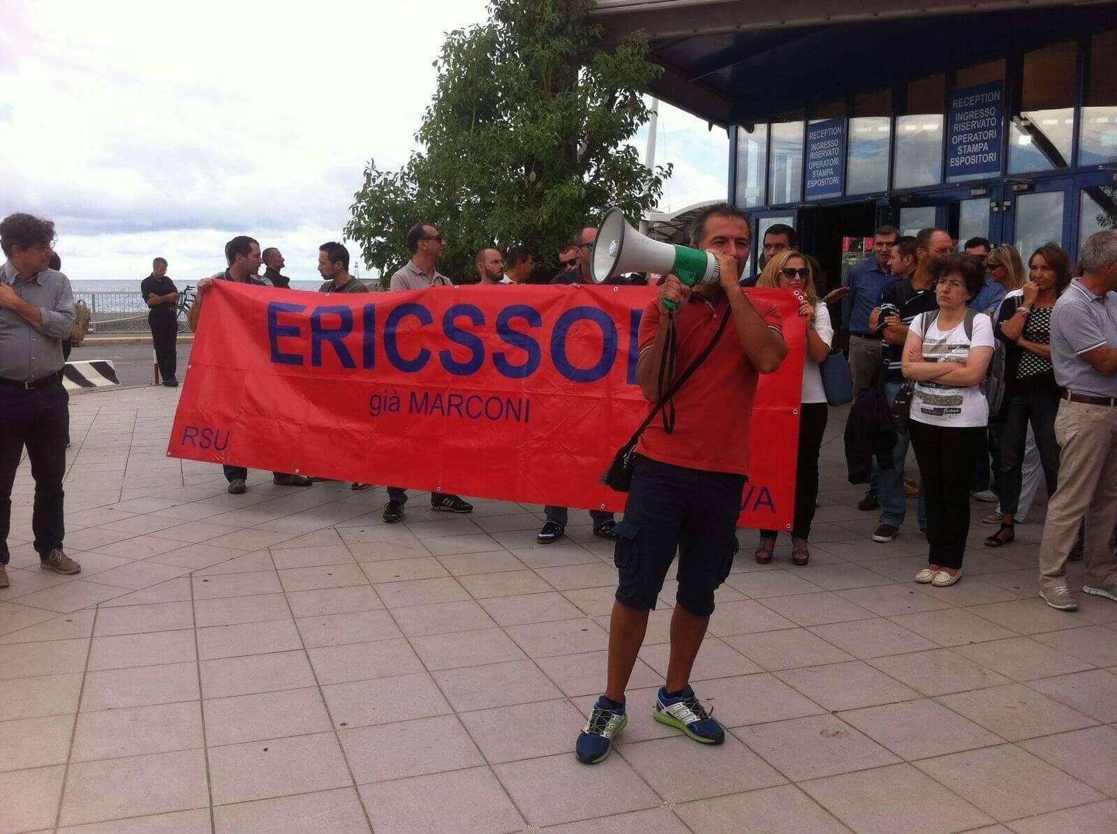 Ericsson: incontro in Regione su licenziamenti, sciopero continua