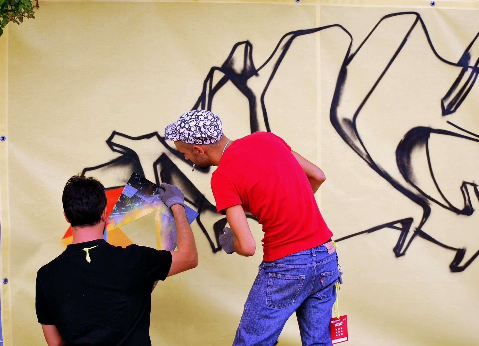 street art, spray, writer