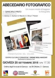 Abecedario fotografico: presentazione del volume di Giancarlo Pinto @ Centro di cultura, formazione e attività forensi dell'Ordine degli Avvocati di Genova