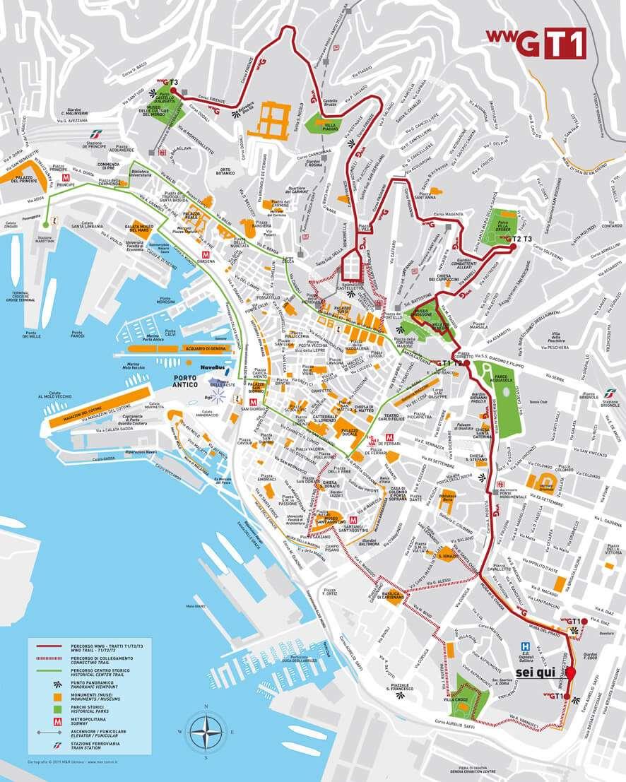 Genova Cartina.Un Percorso Di 5 6 Km Lungo La Balconata Ecco Wonderful